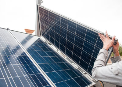 Solar panels for a Solar light tower
