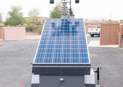 Solar panel light trailer