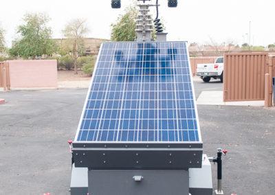 Solar panel light trailer