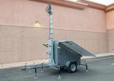 Renewable energy solar light trailer