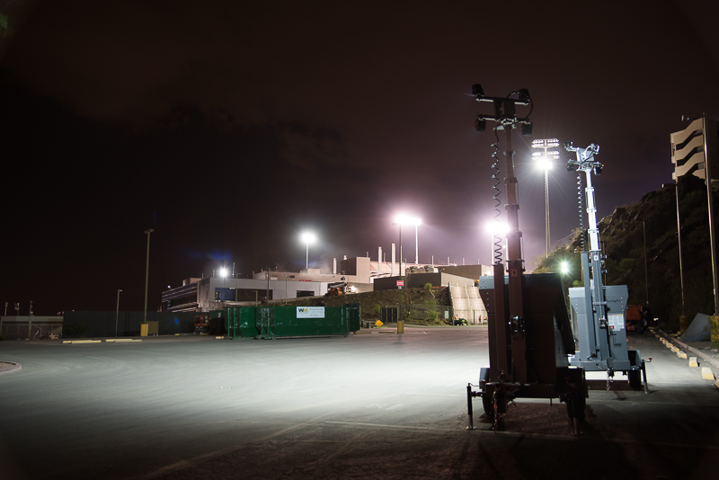Solar Light Tower For Construction Sites And Remote Locations