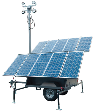 Solar light and security towers