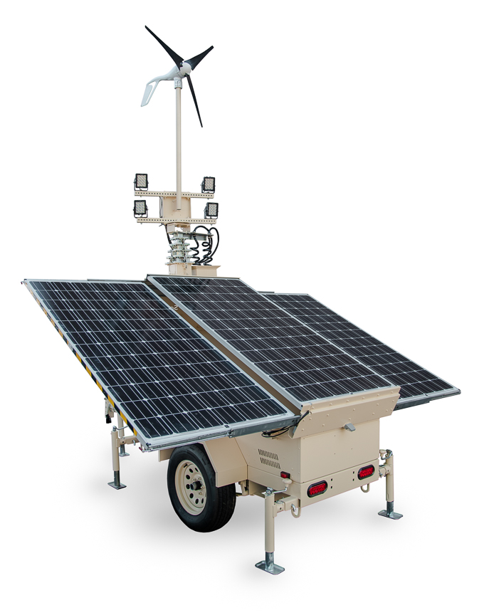 Small unit: Solar Light and Security Towers